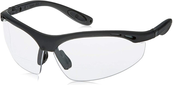 Radians Cheaters Bifocal Safety Glasses with Clear Lens