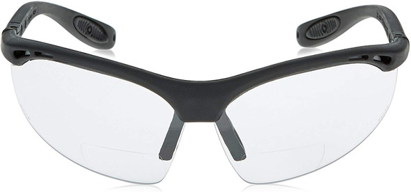 Radians Cheaters Bifocal Safety Glasses with Clear Lens Front View