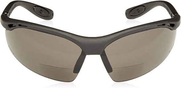 Radians Cheaters Bifocal Safety Glasses with Gray Lens Front View
