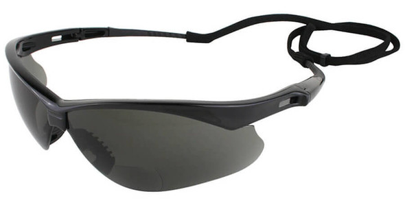 KleenGuard Nemesis Rx Bifocal Safety Glasses With Smoke Lens