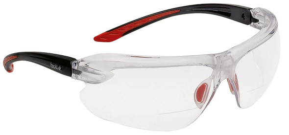 Bolle IRI-s Bifocal Safety Glasses with Black Temples and Clear Anti-Fog Lens