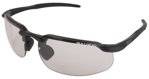 Bullhead Swordfish Safety Glasses with Matte Black Frame and Photochromic Smoke Lens