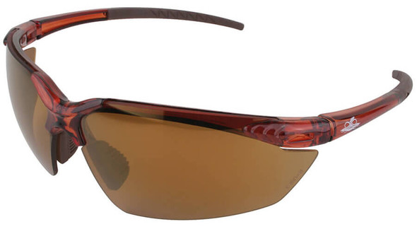 Bullhead Mojarra Safety Glasses with Crystal Brown Frame and Polarized Precision Brown Lens BH11711