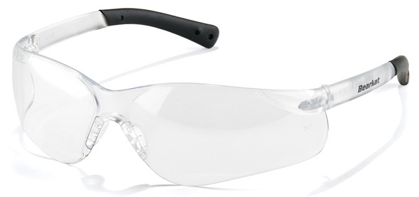 Crews Bearkat 3 Safety Glasses with Clear Lenses and Soft Gel Nose Pad