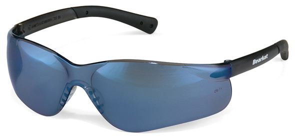 Crews Bearkat 3 Safety Glasses with Blue Mirror Lenses and Soft Gel Nose Pad