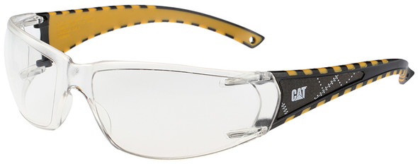 CAT Blaze Safety Glasses with Black Frame and Clear Lens BLAZE-100