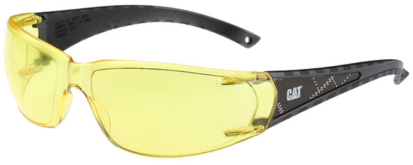 CAT Blaze Safety Glasses with Black Frame and Yellow Lens BLAZE-112