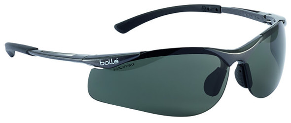 Bolle Contour Safety Glasses with Gunmetal Frame and Polarized Smoke Lens