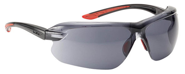 Bolle IRI-s Safety Glasses with Black Temples and Smoke Anti-Fog Lens