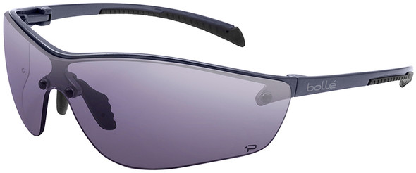 Bolle Silium Plus Safety Glasses Graphite Colored Frame Smoke Anti-Fog Lens 40238