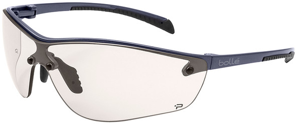 Bolle Silium Plus Safety Glasses with Graphite Colored Frame and CSP Anti-Fog Lens 40239