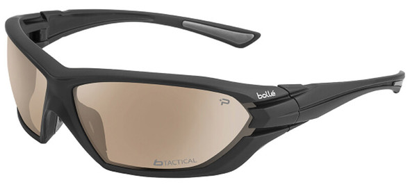 Bolle Assault Tactical Safety Glasses with Matte Black Frame and Twilight Anti-Fog Lens 40148