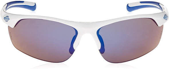 Crossfire AR3 Safety Glasses White Frame Full Blue Mirror Lens 16278 Front