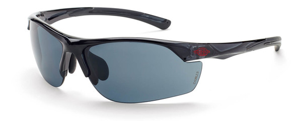 Crossfire AR3 Safety Glasses with Crystal Black Frame and Smoke Lens