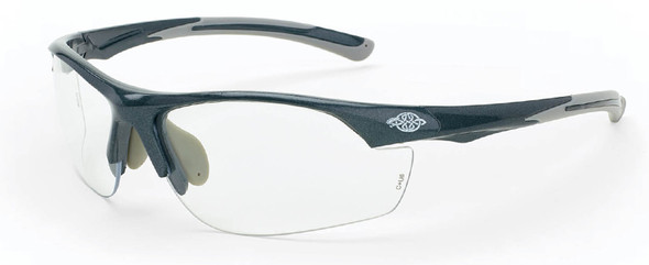 Crossfire AR3 Safety Glasses with Shiny Pearl Gray Frame and Clear Lens
