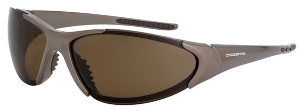 Crossfire Core Safety Glasses with Mocha Brown Frame and Polarized Brown Lens 181813