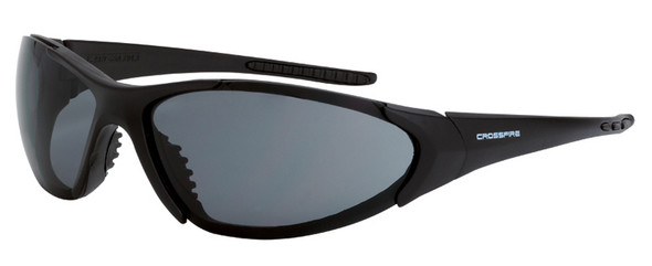 Crossfire Core Safety Glasses with Matte Black Frame and Smoke Lens