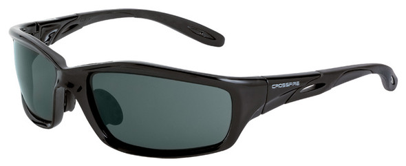 Crossfire Infinity Safety Glasses with Crystal Black Frame and Smoke Lens