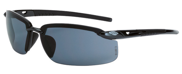 Crossfire ES5 Safety Glasses with Pearl Black Frame and Smoke Lens