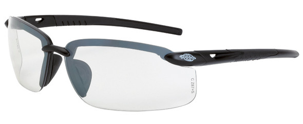 Crossfire ES5 Safety Glasses with Shiny Pearl Gray Frame and Clear Lens