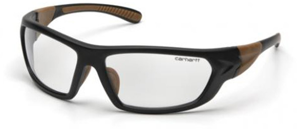 Carhartt Carbondale Safety Glasses with Black Frame and Clear Anti-Fog Lens CHB210DT