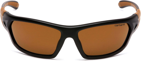 Carhartt Carbondale Safety Glasses with Black Frame and Sandstone Bronze Lens CHB218D Top