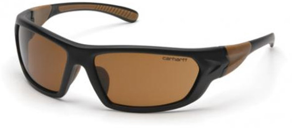 Carhartt Carbondale Safety Glasses with Black Frame and Sandstone Bronze Lens CHB218D