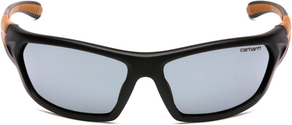 Carhartt Carbondale Safety Glasses with Black Frame and Gray Anti-Fog Lens CHB220DT Front