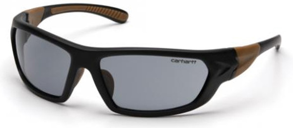Carhartt Carbondale Safety Glasses with Black Frame and Gray Anti-Fog Lens CHB220DT