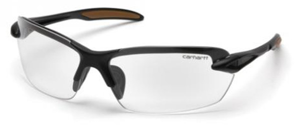 Carhartt Spokane Safety Glasses with Black Frame and Clear Lens CHB310D