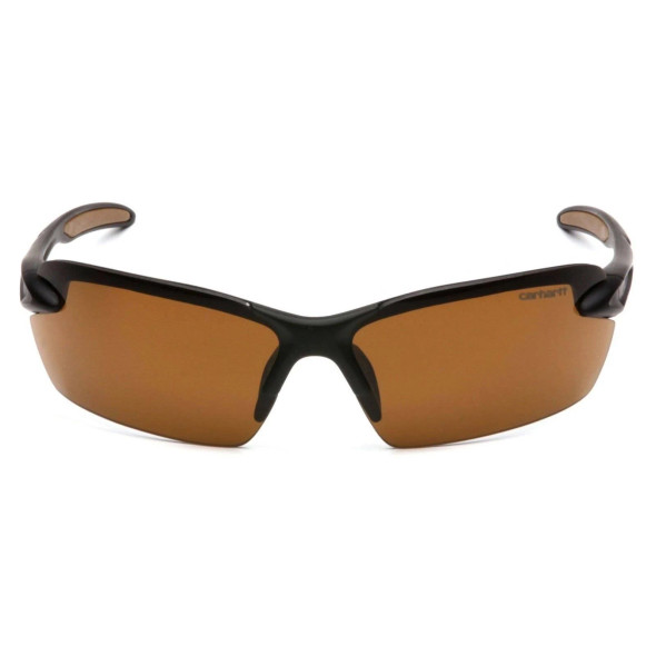 Carhartt Spokane Safety Glasses with Black Frame and Sandstone Bronze Lens CHB318D Front