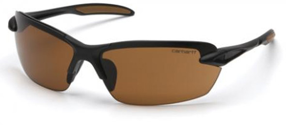 Carhartt Spokane Safety Glasses with Black Frame and Sandstone Bronze Lens CHB318D
