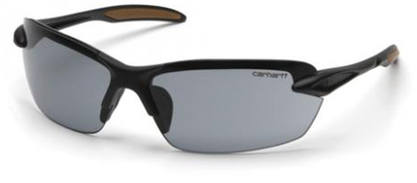 Carhartt Spokane Safety Glasses with Black Frame and Gray Lens CHB320D