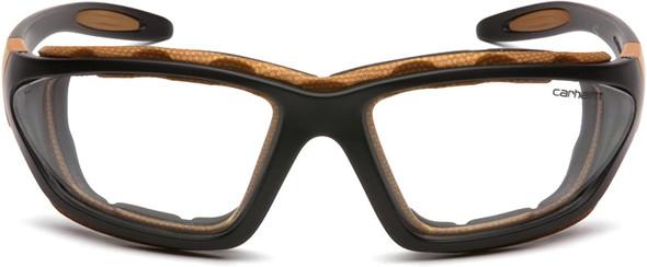 Carhartt Carthage Safety Glasses/Goggles Black Frame Clear Anti-Fog Lens CHB410DTP Front