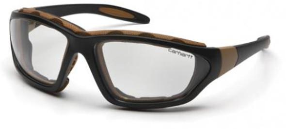 Carhartt Carthage Safety Glasses/Goggles Black Frame Clear Anti-Fog Lens CHB410DTP