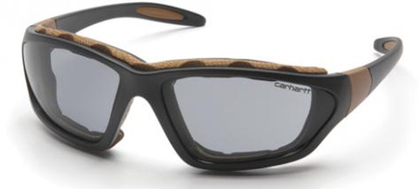 Carhartt Carthage Safety Glasses/Goggles with Black Frame and Gray Anti-Fog Lens
