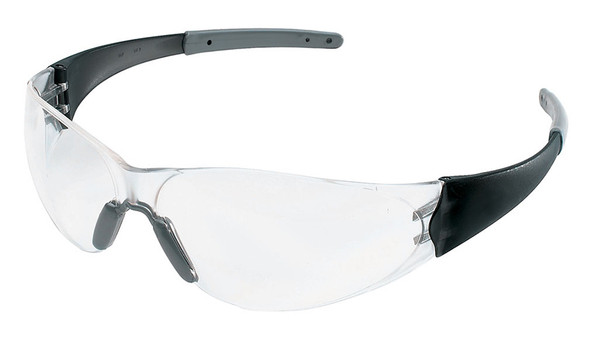 Crews Checkmate 2 Safety Glasses with Smoke Temples and Clear Anti-Fog Lens