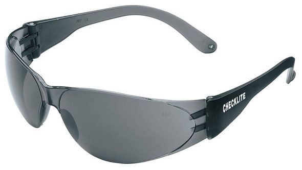Crews Checklite Safety Glasses with Gray Lens