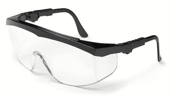 Crews Tomahawk Safety Glasses With Black Frame and Clear Anti-Fog Lens TK110AF