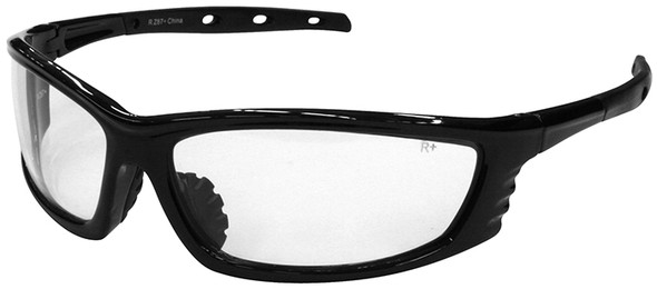 Radians Chaos Safety Glasses with Black Frame and Clear Lens CS1-10