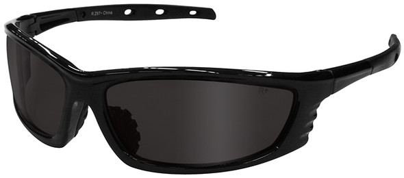 Radians Chaos Safety Glasses with Black Frame and Smoke Lens CS1-20