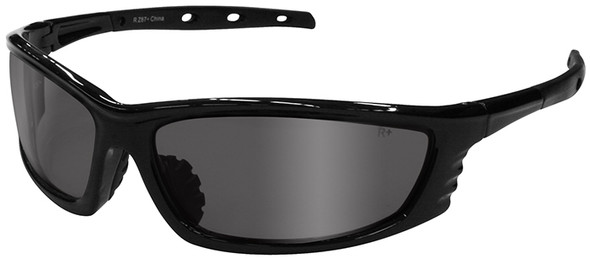 Radians Chaos Safety Glasses with Black Frame and Silver Mirror Lens CS1-60