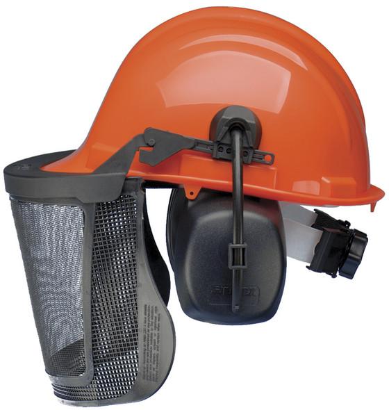 Elvex ProGuard Loggers Safety Cap w/25dB NRR Earmuffs CU-30R