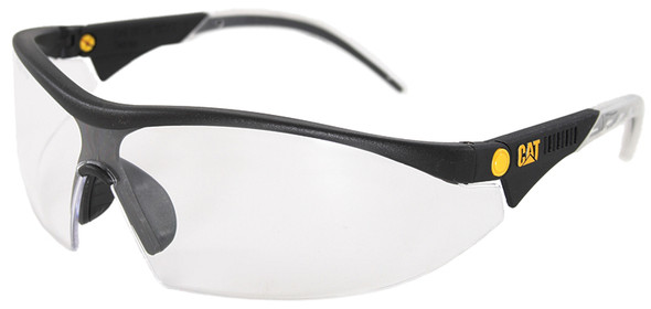 CAT Digger Safety Glasses with Black Frame and Clear Lens DIGGER-100