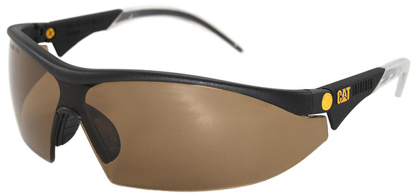CAT Digger Safety Glasses with Black Frame and Brown Lens DIGGER-103