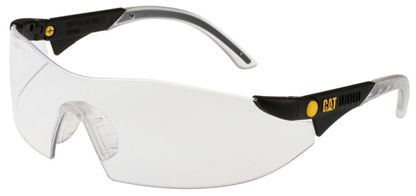 CAT Dozer Safety Glasses with Black Frame and Clear Lens DOZER-100