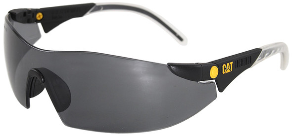 CAT Dozer Safety Glasses with Black Frame and Smoke Lens DOZER-104