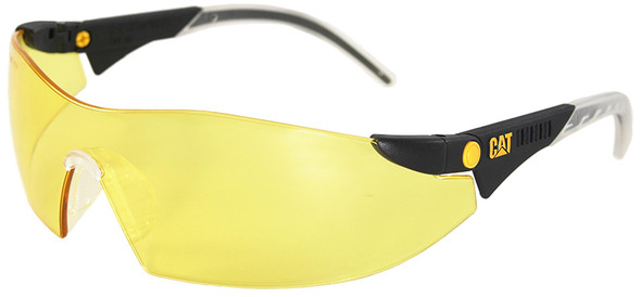 CAT Dozer Safety Glasses with Black Frame and Yellow Lens DOZER-112