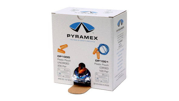 Pyramex Foam Corded Earplugs DP1001 NRR-32
