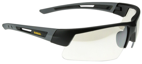 DeWalt Crosscut Safety Glasses with Black/Gray Frame and Indoor/Outdoor Lenses